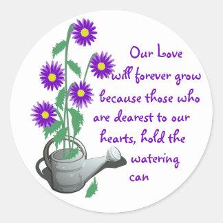 Love Grows/ Wedding Classic Round Sticker