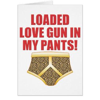 Love Gun Greeting Card