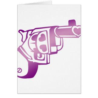 Love gun. greeting card