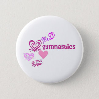 Love Gymnastics 2 Inch Round Button