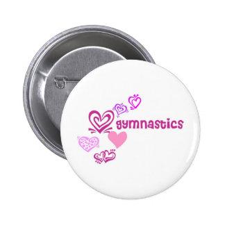 Love Gymnastics 2 Inch Round Button