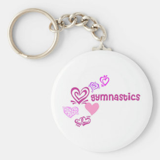 Love Gymnastics Basic Round Button Keychain