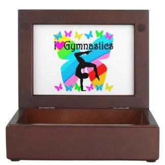 LOVE GYMNASTICS FOREVER DESIGN KEEPSAKE BOX