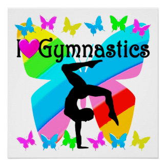 LOVE GYMNASTICS FOREVER DESIGN PERFECT POSTER