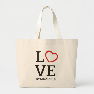 LOVE Gymnastics Large Tote Bag