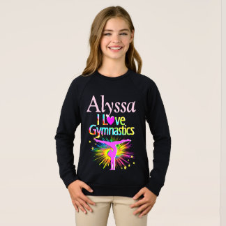 LOVE GYMNASTICS PERSONALIZED SWEATSHIRT