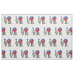 Love Haiti Smiling Flag Fabric
