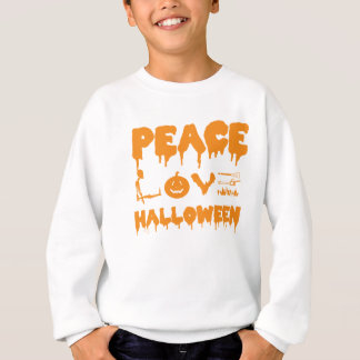 Love Halloween costume tshirt with skeleton, bats
