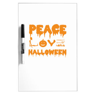 Love Halloween costume tshirt with skeleton, bats Dry Erase Board