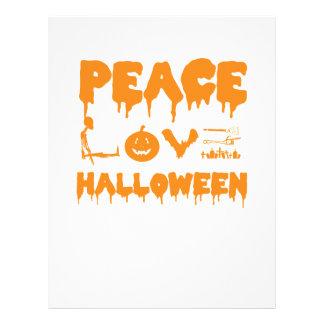 Love Halloween costume tshirt with skeleton, bats Letterhead
