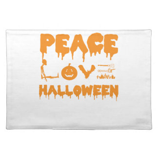 Love Halloween costume tshirt with skeleton, bats Placemat