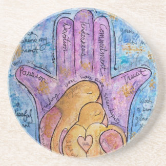 Love Hamsa Coaster