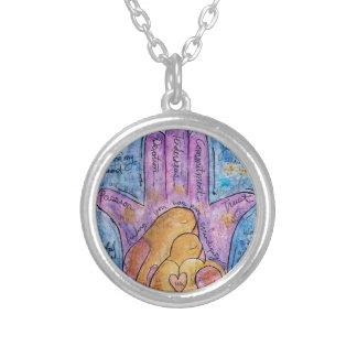 Love Hamsa Silver Plated Necklace