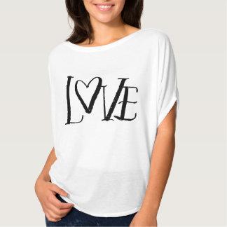 Love Hand-Lettered Lose Short Sleeve Shirt