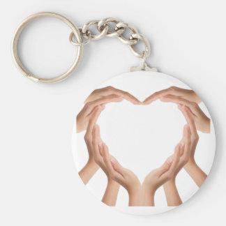 Love Hands Basic Round Button Keychain