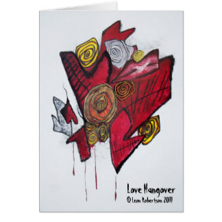 Love Hangover Blank Card