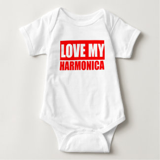 Love Harmonica Baby Bodysuit