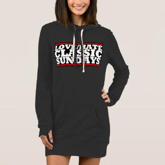 LOVE/HATE CLASSIC SUNDAYS Logo Hoodie Dress