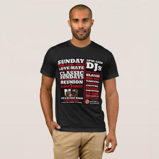 LOVE/HATE CLASSIC SUNDAYS REUNION FLYER w/DJs T-Shirt