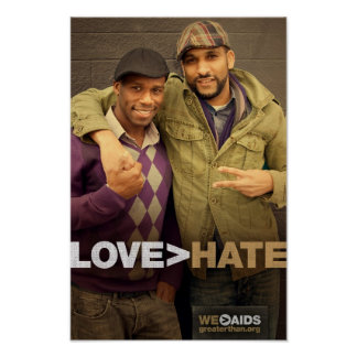 LOVE > HATE Poster