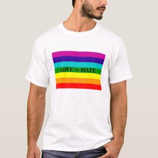 Love > hate T-Shirt