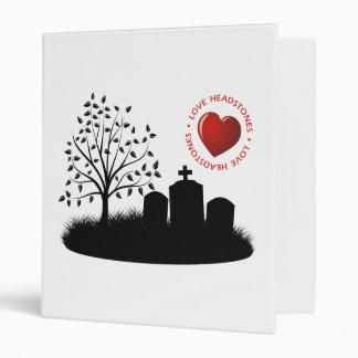 Love Headstones 3 Ring Binders