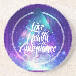 love-health-abundance zen series coaster
