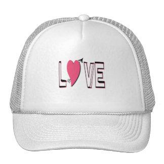 Love Heart Baseball Cap Trucker Hat