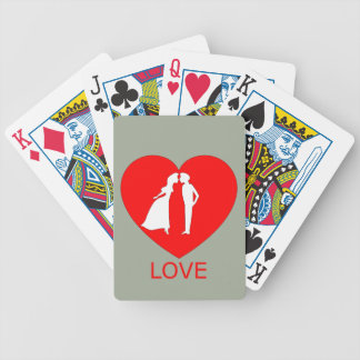 Love Heart Bicycle Cards