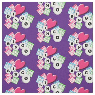 Love Heart Bingo Fabric