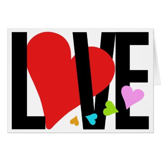 Love & Heart Card (Multicolor)