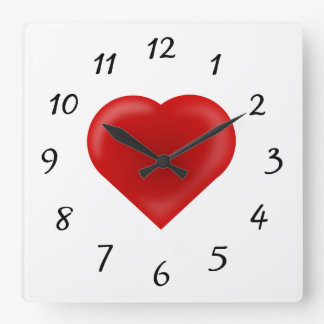 Love Heart Clocks