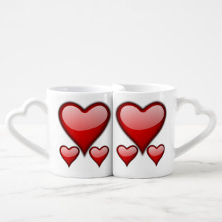 Love Heart Coffee Mug Set