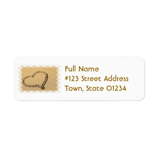 Love Heart Drawing Mailing Label