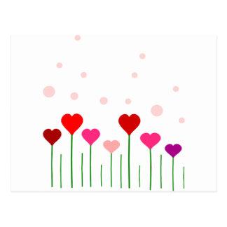 Love Heart Field Post Card