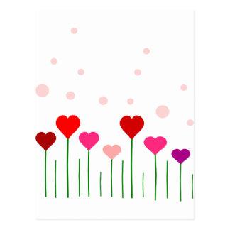 Love Heart Field Postcard