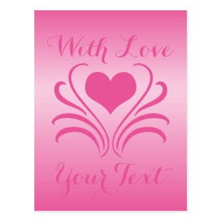 Love Heart Flair Curlicue Stencil Pick Any Color Postcard