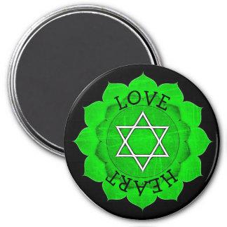 Love Heart Green Chi Chakra Magnet