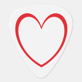 Love Heart Guitar Pick