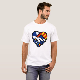 LOVE HEART HANDS - INDY 4 SCOTLAND AND CATALONIA T-Shirt
