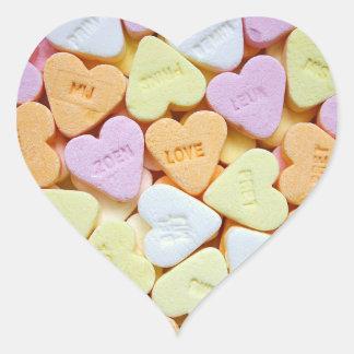 Love Heart Heart Stickers, Glossy Heart Sticker
