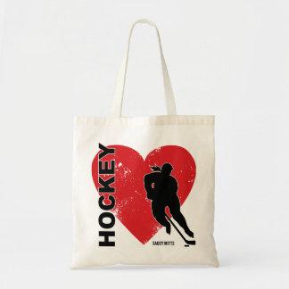 Love Heart Hockey Women's Tote Bag