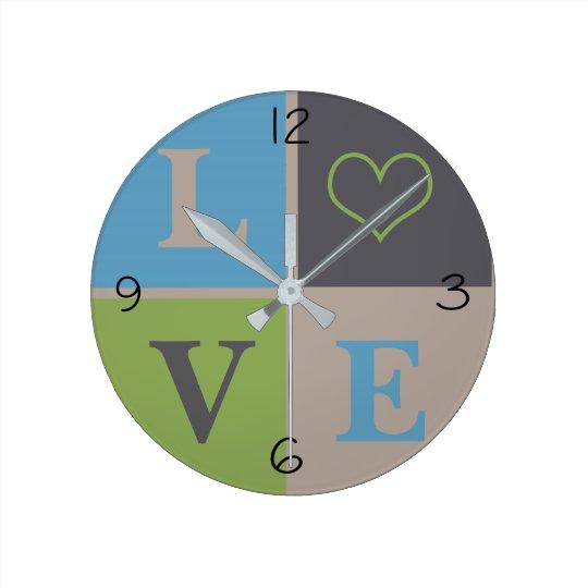 LOVE Heart Infant Nursery Neutral Decor Wall Clock