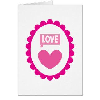 Love heart on a cameo card