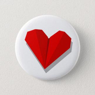 Love Heart Origami Button