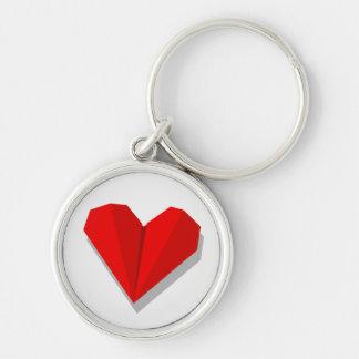 Love Heart Origami Keychain