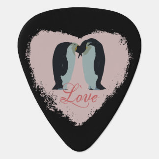 Love Heart Penguin Guitar Pick