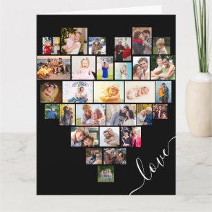 Love Heart Photo Collage Happy Anniversary Card