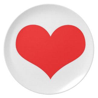 Love heart plate