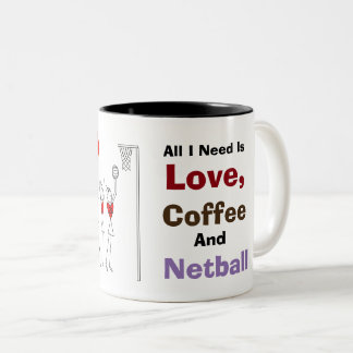 Love Heart Player Positions and Fun Quote Two-Tone Coffee Mug